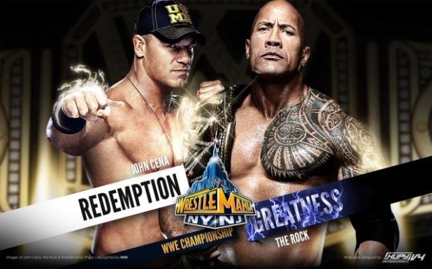 Wrestlemania 29 Rock - Cena